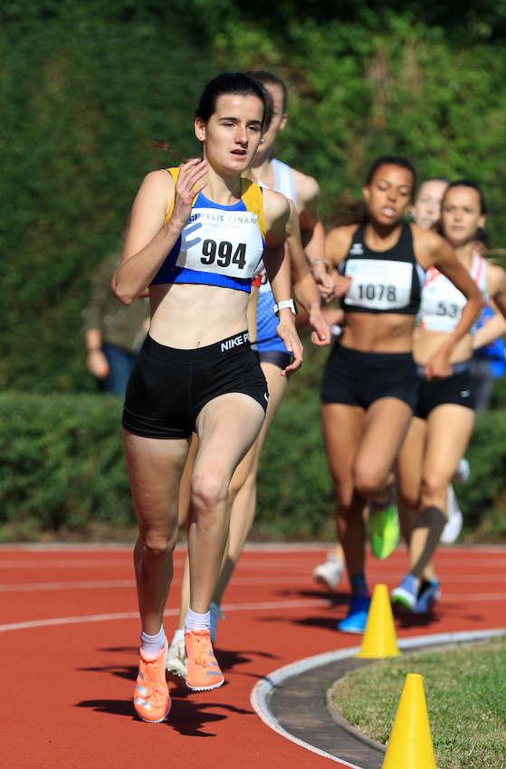 Anna Drexler mit neuer persönlicher Bestleistung über 800m. Foto: Kiefner